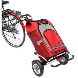 Royal Shopper plus, sac Hydro rouge avec fixation BE+ chez vélo horizon port gratuit à partir de 300€