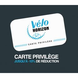 Carte Privilège Vélo Horizon chez vélo horizon port gratuit à partir de 300€
