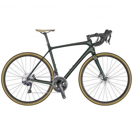 Velo SCOTT Addict 10 disc green (KH) chez vélo horizon port gratuit à partir de 300€