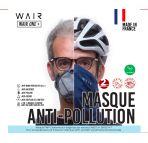 Masque anti-pollution Wair chez vélo horizon port gratuit à partir de 300€