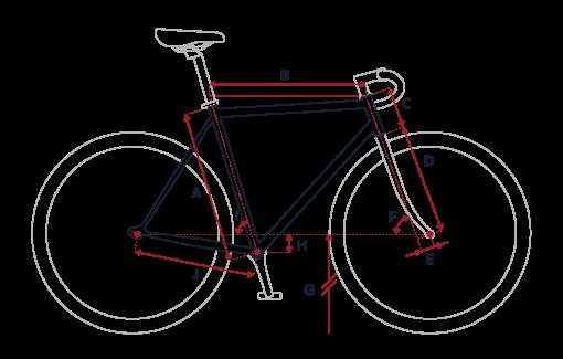 cadre vélo peugeot, tailles