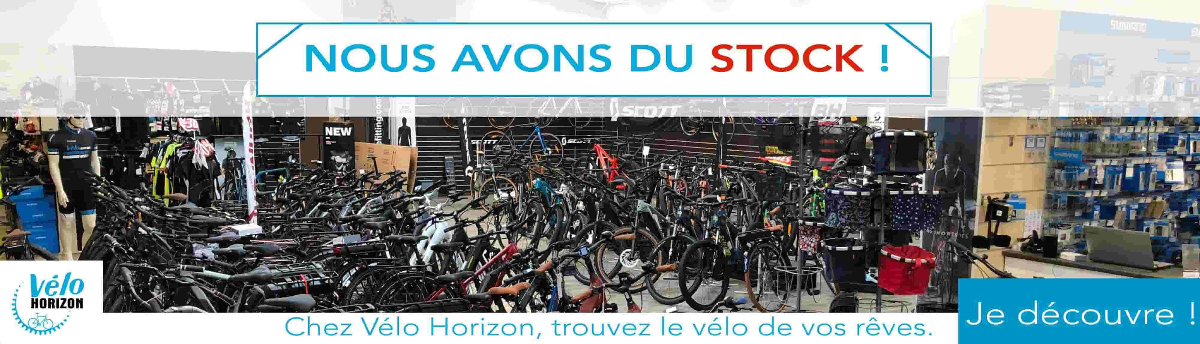 Vélos en stock